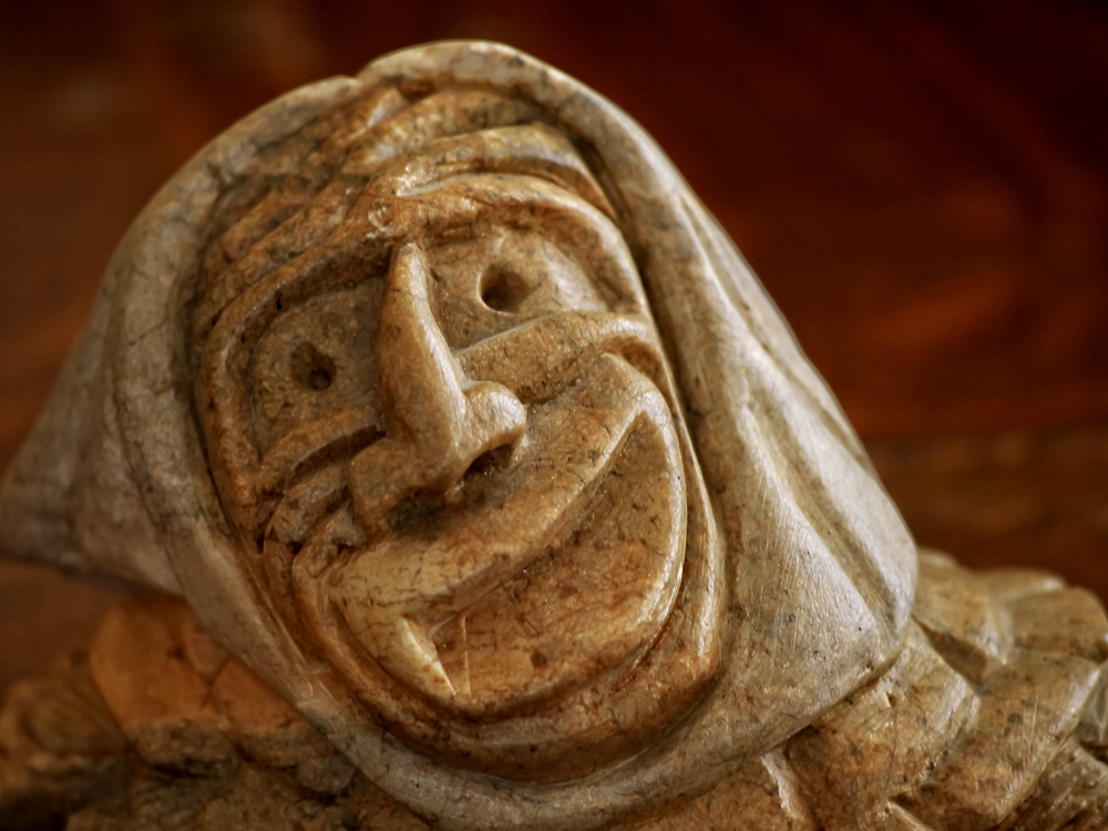 Great Spirit carving by Steve Powless